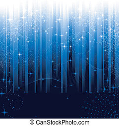 青, 偉人, 雪片, お祝い, パターン, themes., ∥あるいは∥, バックグラウンド。, 星, しまのある, クリスマス, 冬