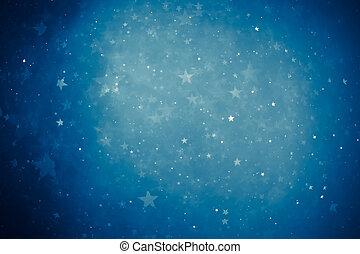 青, 光沢がある, 星, 背景