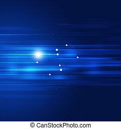 青, 動き, 抽象的, 技術, 背景