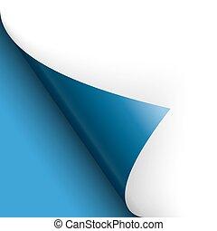 青, 回転, 底, 上に, /, ペーパー, ページ, 左