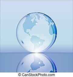 青, 地球の 地球, 透明, 照ること