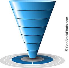 青, 容易に, 転換, 販売, ターゲット, レベル, customizable, 1, tones., ベクトル, プラス, 7, graphics., じょうご, ∥あるいは∥
