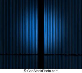 青, 導入, 段階のカーテン
