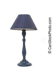 青, 床 ランプ, 隔離された