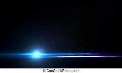 青, 底, レンズは急に燃え上がる, 海, 交差