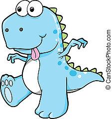 青, 恐竜, 愚か, 間抜け, t-rex