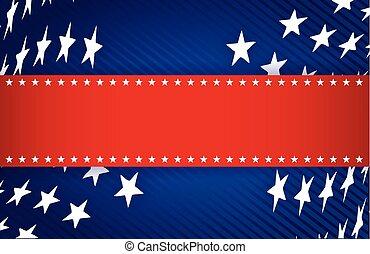 青, 愛国心が強い, 白, イラスト, 赤