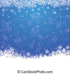 青, 星, 雪, 背景, 秋, 白