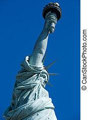 青, 晴れわたった空, の上, 自由, ヨーク, 像, 新しい, 終わり