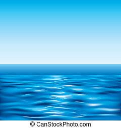 青, 晴れわたった空, 海