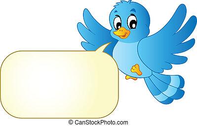 青, 漫画, 泡, 鳥