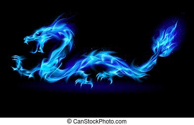青, 火, ドラゴン
