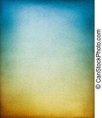 青, 茶色の 背景