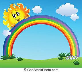 青, 虹, 空, 保有物, 太陽