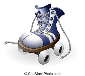 青, 解かれる, レース, ローラー スケート