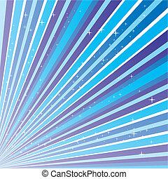 青, 10.0, ストリップ, 抽象的, eps, イラスト, 星, ベクトル, 背景