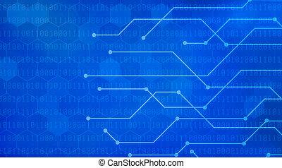 青, 2進符号, ネットワーク, 背景, 未来派
