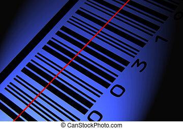 青, barcode