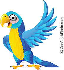 青, macaw, 漫画
