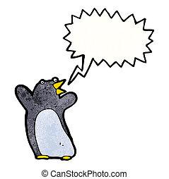 面白い, ペンギン, スピーチ, 漫画, 泡