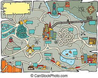 面白い, 宝物地図