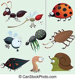 面白い, 昆虫, セット