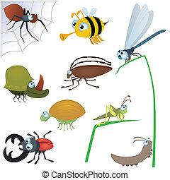 面白い, 昆虫, セット, #2