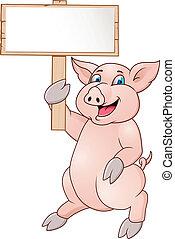 面白い, 漫画, 豚