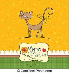 面白い, 誕生日カード, ねこ