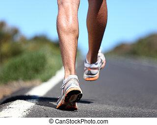 靴, ランナー, スポーツ, 動くこと