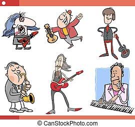 音楽家, セット, 漫画, 特徴