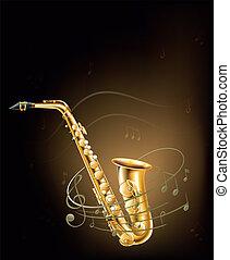 音楽的な ノート, サクソフォーン