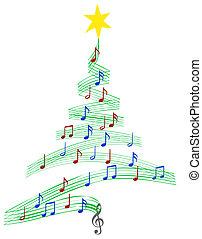 音楽, キャロル, 木, クリスマス