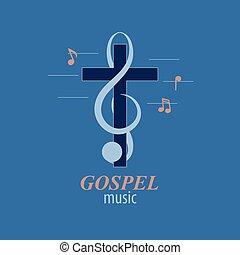 音楽, キリスト教徒, ロゴ