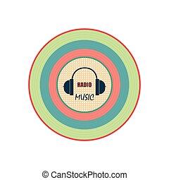 音楽, ラジオ, ロゴ