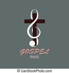 音楽, ロゴ, ゴスペル