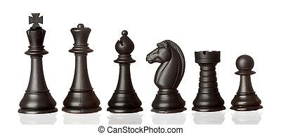 順序, 小片, 黒, チェス, 減少