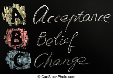 頭字語, abc, 受諾, 信念, -, 変化しなさい