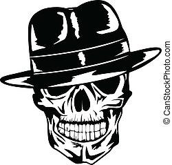 頭骨, 帽子, ギャング