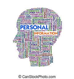 頭, 概念, 単語, ビジネス, 中, 形, 雲