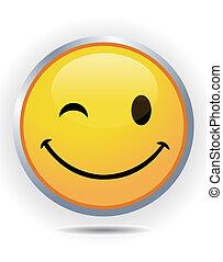 顔, smiley, 黄色