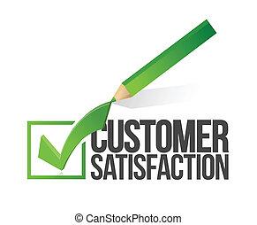 顧客満足, checkmark, 鉛筆