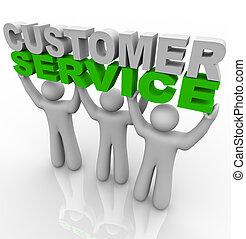 顧客, 持ち上がること, -, 言葉, サービス