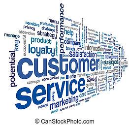 顧客, 概念, 単語, 雲, サービス