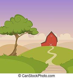風景, 農場