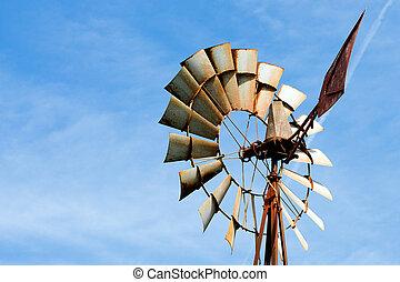 風車の 農場, 錆ついた, 古い, 田園