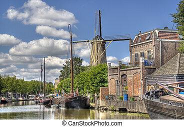 風車, gouda, オランダ