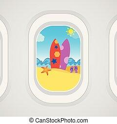 飛行機の窓, 光景