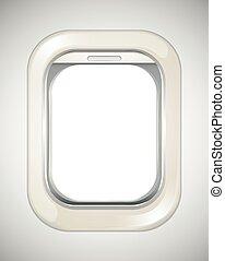 飛行機, いいえ, 窓の眺め