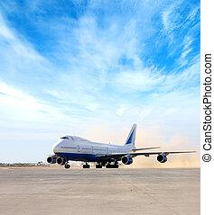 飛行機, 空港, 巨人